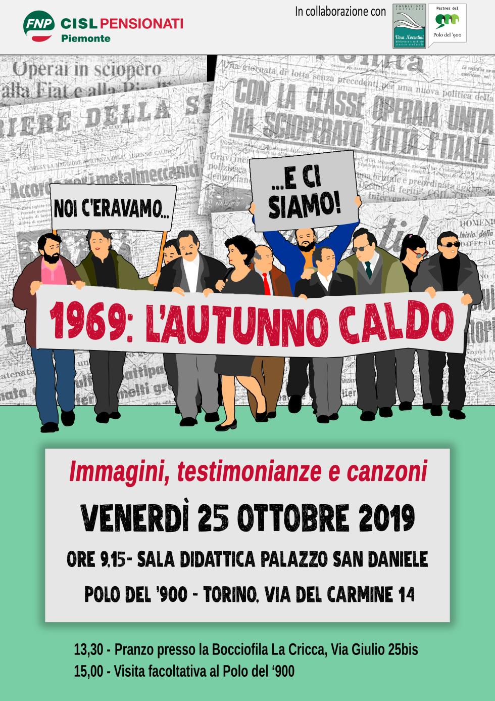 La FNP CISL Piemonte rievoca l'autunno caldo del '69