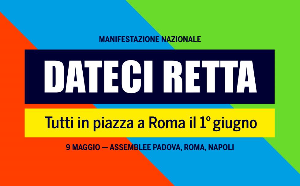 Manifestazione pensionati 1 giugno spostata a piazza San Giovanni. Il 9 maggio Assemblee a Padova, Roma e Napoli