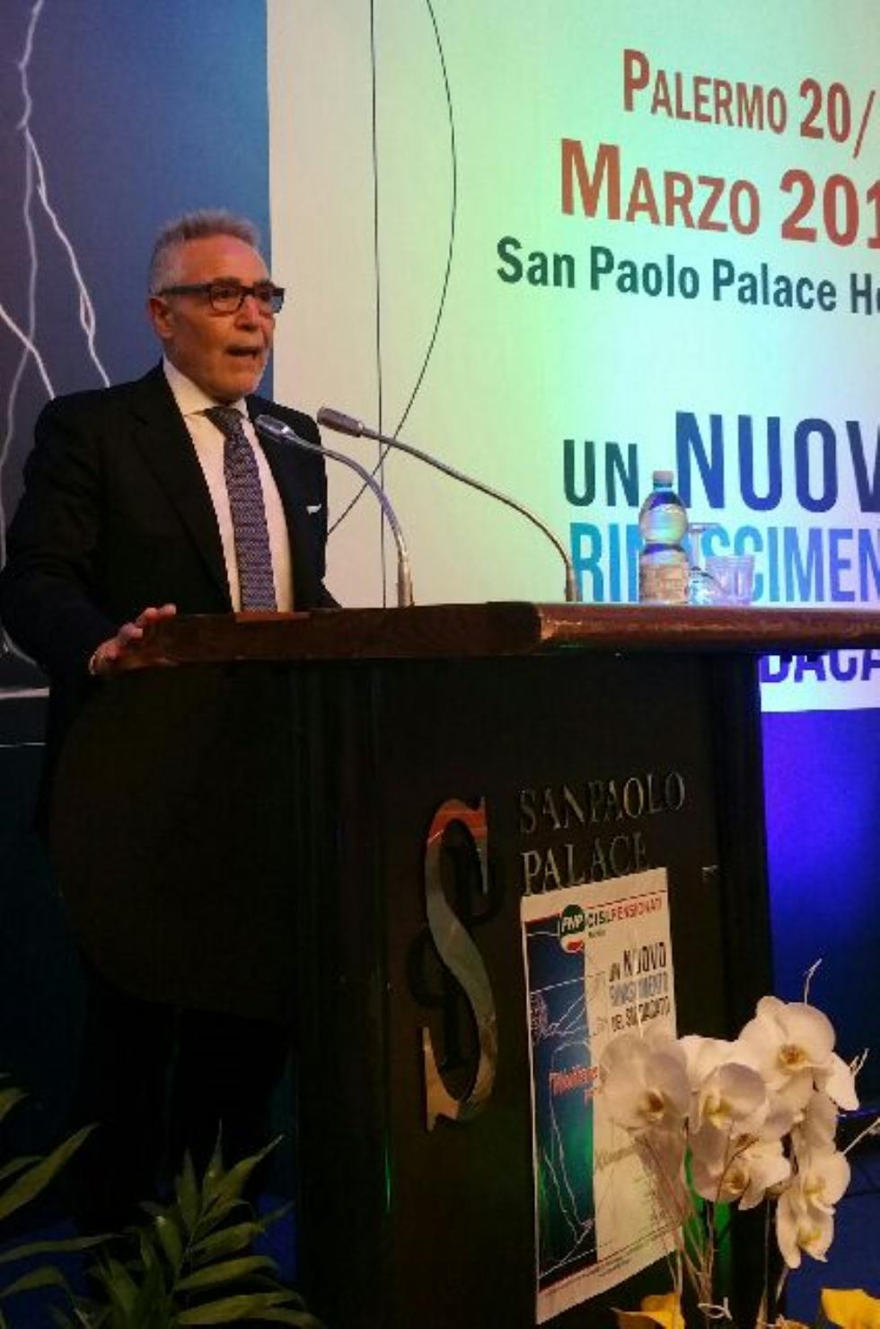 Alfio Giulio riconfermato alla guida della Fnp Cisl Sicilia