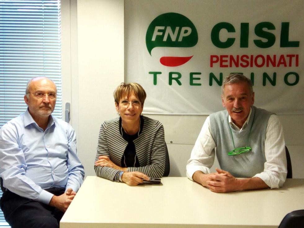 La nuova segreteria regionale dopo il XVIII Congresso FNP CISL Trentino