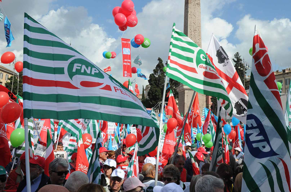 9 febbraio, Sindacati uniti in Piazza San Giovanni a Roma