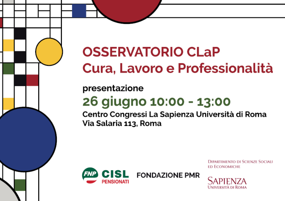 Welfare: Fnp Cisl presenta l'Osservatorio