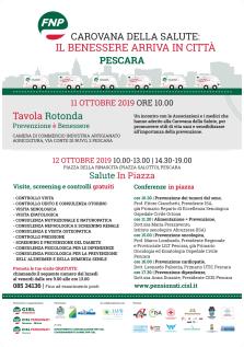 Carovana della Salute, il 12 ottobre a Pescara