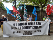 Fnp-Spi-Uilp Piemonte con gli anziani nelle RSA #senzaradicinoncefuturo